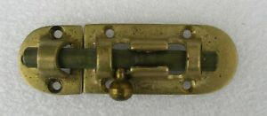 Vintage Solid Brass Bronze Door Deadbolt Slide Barrel Bolt Style 4 1 2