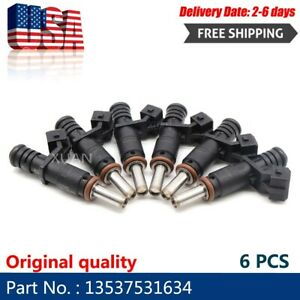 6x Fuel Injectors 7531634 For 06 12 Bmw 128i 328i X3 X5 Z4 525i 2 0 2 5 3 0l Us