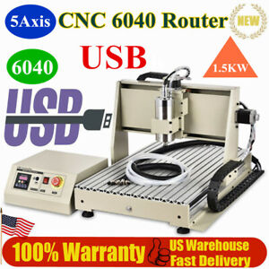 Usb 5 Axis 1 5kw Cnc 6040 Router Engraving Machine Wood Metal Drill Carver Cut