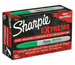 Sharpie Extreme Permanent Marker Fine Point Green Ink 12 count