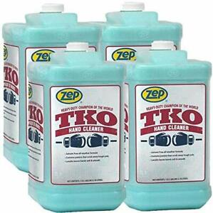 Zep Heavy duty Tko Hand Cleaner 128 Oz R54824 case Of 4 Pump Included