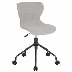Somerset Home And Office Upholstered Task Chair In Light Gray Fabric