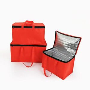 Pizza Food Delivery Bag Insulated Thermal Storage Holder Outdoor Picnic 15