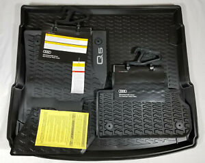 New Audi Oem 2018 2019 Q5 Rubber All Weather Floor Mats Set Of 4 Cargo Mat
