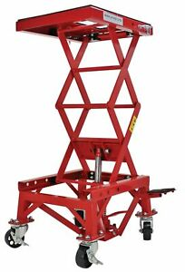 Hydraulic Motorcycle Lift Table 300 Lb Lift Hoist Center Lift Stand