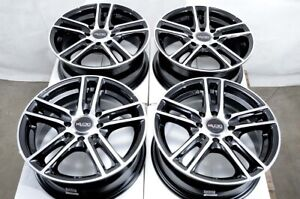 14 Black Rims Fits Mitsubishi Mirage Lancer Es Oz L miev Aveo Cobalt Wheels