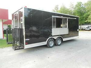 New 8 5x20 8 5 X 20 Enclosed Concession Food Vending Bbq Trailer Must See