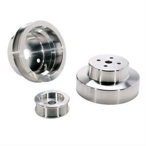 Bbk Performance Pulley Set Serpentine Alum Clear Chevy Gmc 4 3 5 0 5 7l