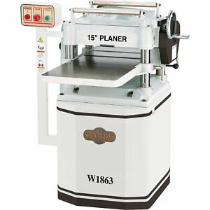 Shop Fox 15in Planer With Helical Cutterhead 3 Hp 230 Volts 12 Amps 1 phase