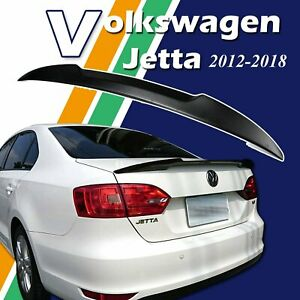 Unpainted V Type Trunk Duckbill Lip Spoiler For Volkswagen Vw Jetta Mk6 12 18