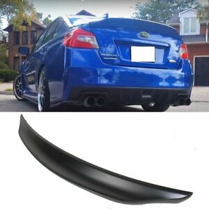 Unpainted Rear Trunk Duckbill Lip Spoiler Wing For Subaru Wrx Sti 4th 15 20