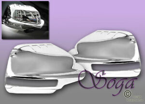For 2011 2015 Ford Explorer Chrome Mirror Full Cover Covers W signal Cut Us Sell