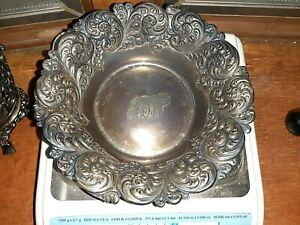 Antique Black Starr Frost Sterling Silver 999 1000 Fine 808 Bowl Org Patina