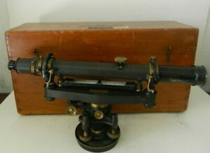 Vintage The A Lietz Co 10271 Surveying Transit Level W Wooden Case
