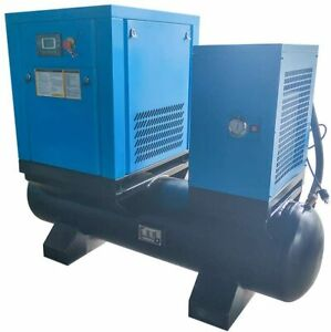 1phase 230v Rotary Screw Air Compressor W 80 Gallon Air Tank Dryer All in one