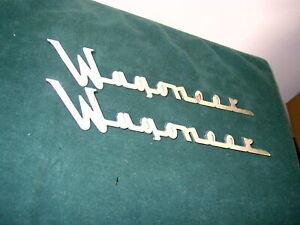 1962 1963 1964 1965 Jeep Wagoneer Chrome Script Emblem Pair 11 19