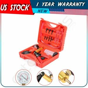 Vacuum Pump Gauge Test 2 In 1 Brake Bleeder Tuner Kit Hand held Tools