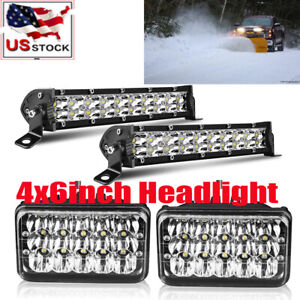 4x6 Led Headlight 2x 7 Pod For Blizzard Snowplow Snow Plow 680lt 720lt 810