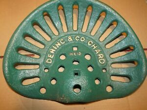Dening Green Vintage Cast Iron Tractor Farm Implement Seat Antique