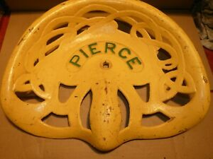 Pierce Vintage Cast Iron Tractor Farm Implement Seat Antique