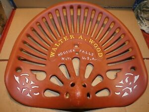 Usa Walter Wood Vintage Iron Tractor Farm Implement Seat Nameplate