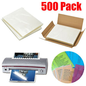 500pack 3 Mil Letter Size Thermal Laminating Pouches 9 X 11 5 Crystal Clear Us