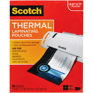 Thermal Laminating Pouches Letter Size 50 pack