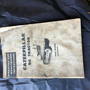 Cat Caterpillar D8 46a Dozer Tractor Operation Maintenance Manual Used