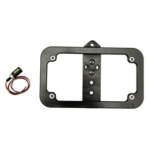 Axia Alloys Bright Black Anodized Bolt on Lighted License Plate Frame