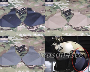 FAST Helmet Rail  FG Ear Protector Emerson Tactical Combat Rubber Side Cover