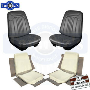 71 72 Chevelle Front Bucket Seat Upholstery Covers Black Seat Buns Foam Pui