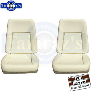 1969 Camaro Deluxe Front Bucket Seat Buns Foam Cusions Pair Pui