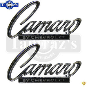 68 69 Camaro By Chevrolet Deck Trunk Lid Nose Header Panel Emblem Pair