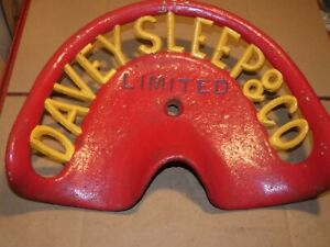 Davey Sleep Co Ltd Vintage Cast Iron Tractor Implement Seat Antique