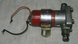 Holley Electric Fuel Pump Red W Bracket Fittings L 6145 2 Used Vintage Race