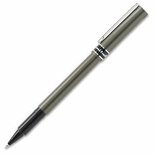 Uni ball Deluxe Rollerball Pen 0 5 Mm Pen Point Size Black Ink Gray Barrel