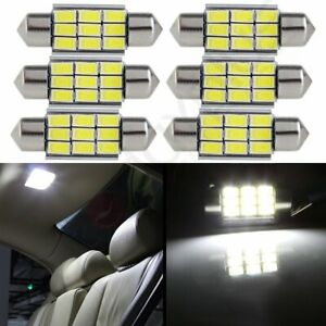 6x White 1 41 Inch 36mm 9smd 5730 Interior Festoon Led Lights For Dome Map