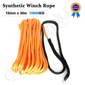 2 5 X100 Synthetic Winch Rope Line Orange Recovery Cable 23809lb 4wd Suv Pickup