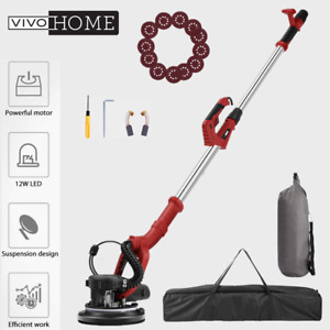 Vivohome 750w Electric Led Drywall Sander 7 speed W Vacuum Bag 12x Sanderpapers