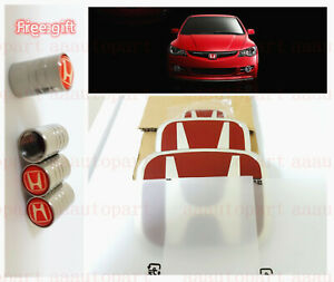 3pcs Jdm Red H Emblem Front Rear Steering Fit For 06 11 Honda Civic Coupe 2 Dr