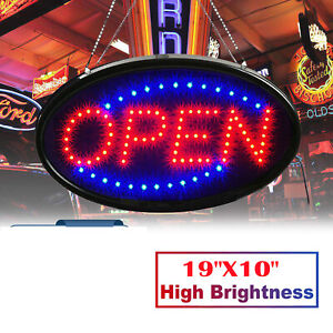 Led Store Open Business Sign Ultra Bright Neon Light Animated Motion With On off