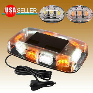 Amber White Led Emergency Warning Safety Flashing Strobe Light Bar For Truck Car