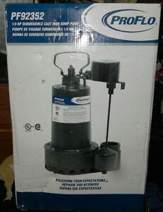 Proflo Pf92352 1 3 Hp Cast Iron Submersible Sump Pump W Vertical Float Switch