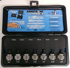 Armstrong 5mh43 7 Piece Eliminator 1 2 Drive Fractional Hex Driver Set Usa
