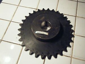 Roller Chain Sprocket 80 Pitch 30 Tooth 1 3 4 X2 Deep Bore 3 8 Key Way 80b30f