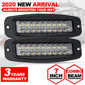 2x 3inch Round Led Work 160w Spot Light Fog Driving Lamps Offroad Suv Boat 12v