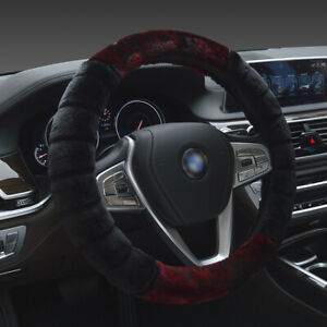 15 Universal Car Vehicle Steering Wheel Cover Fuzzy Stretchy Wheel Protector