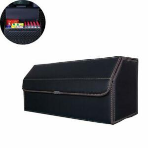 1x Leather Waterproof Car Trunk Organizers Storage Cover Foldable For Suv Truck