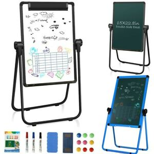 18 x24 Whiteboard Portable Magnetic Easel Dry Erase Board Adjustable For Home