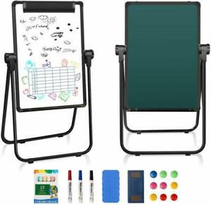 Kids Easel Double sided Whiteboard Chalkboard Standing Writing Drawing Xmas Gift